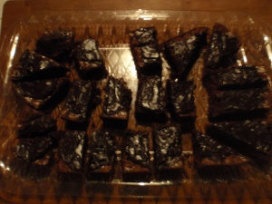 Double chocolate brownies topped w/ dark chocolate.  I think so.