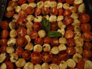 Beautiful tomato mozzarella salad