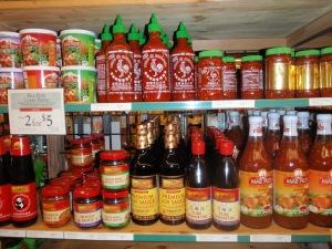 Chili sauces galore!